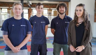 employee ownership - The business' current group of apprentices - image courtesy of Gripple.