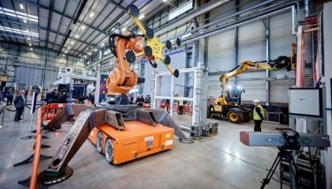 UK Construction equipment innovations demonstrated at the Manufacturing Technology Centre - image courtesy of MTC.