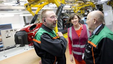 "Frances O'Grady (middle): ""We need a local industrial strategy for every town that has been held back. We need to train workers in the skills needed for tomorrow's high-tech industries"" - image courtesy of Jess Hurd."