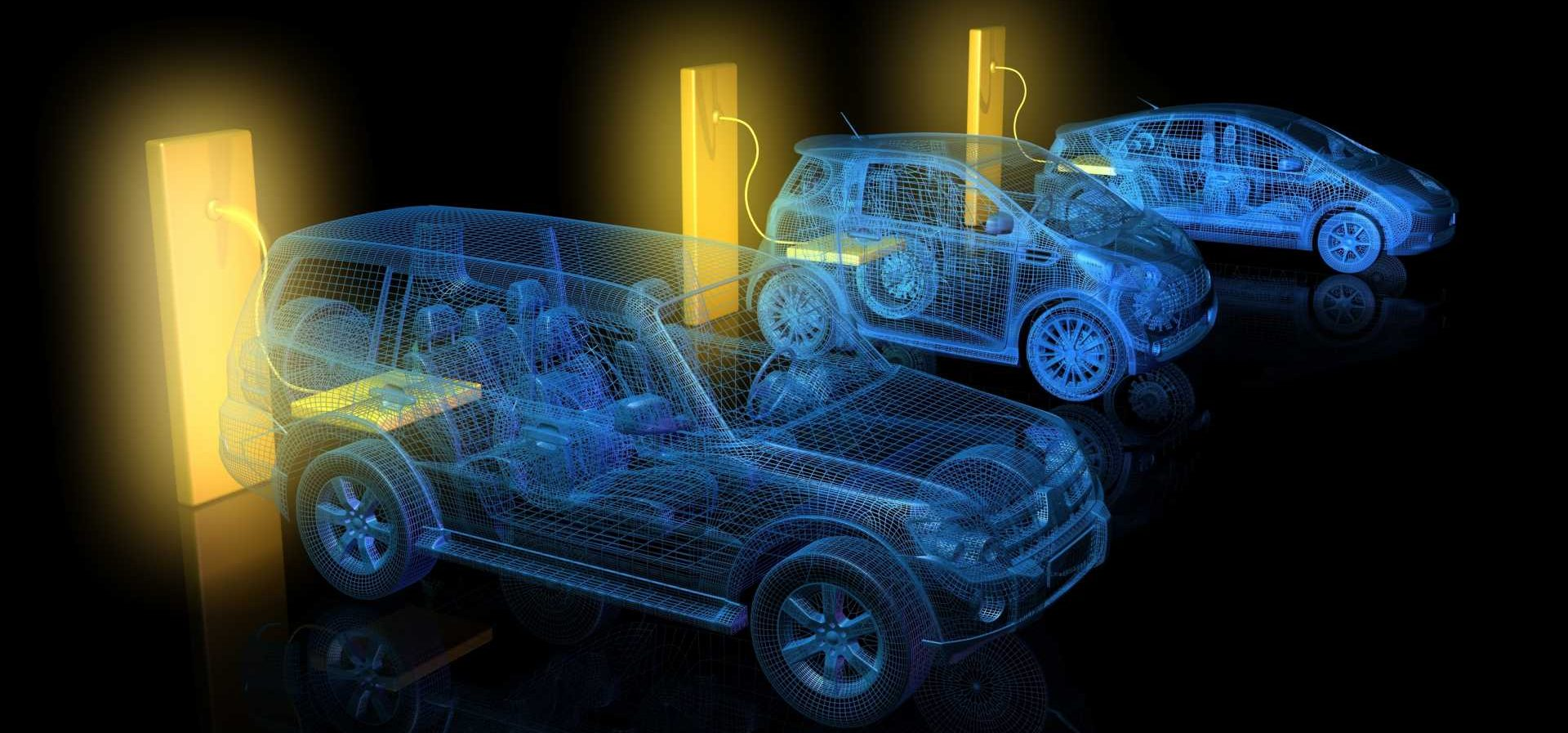 Clean Mobility - BEV - Automotive charging points electric and hybrid vehicles batteries thermal runaway – shutterstock image.
