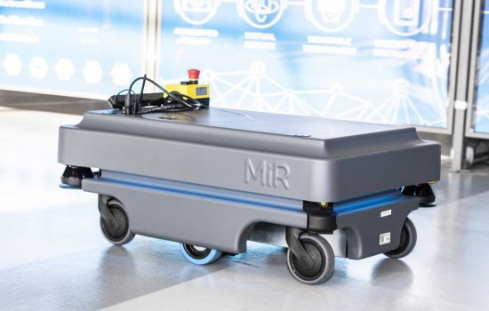 The MiR200 base robots moving around Factory 2050 independently during trials - image courtesy of AMRC.