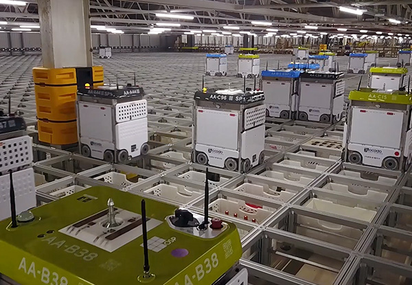 Tharsus manufacture Ocado's robots - image courtesy of Tharsus.