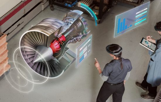 CROP - Microsoft HoloLens gives manufacturers the opportunity to design products and train staff in a far quicker and cheaper way than traditional techniques - image courtesy of Microsoft.
