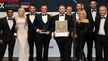 A-SAFE at The Manufacturer MX Awards 2018 - image courtesy of The Manufacturer.
