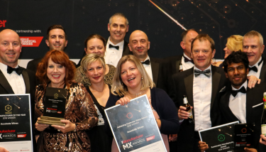 Manufacturer of the Year 2018 - Richard Lloyd (third from left) celebrates with the Accolade Wines team after his company won three The Manufacturer MX Awards, includ¬ing The Manufacturer of the Year – image courtesy of The Manufacturer.