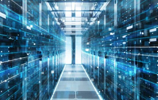 CROP - Server Room IT Digital Technology - stock image