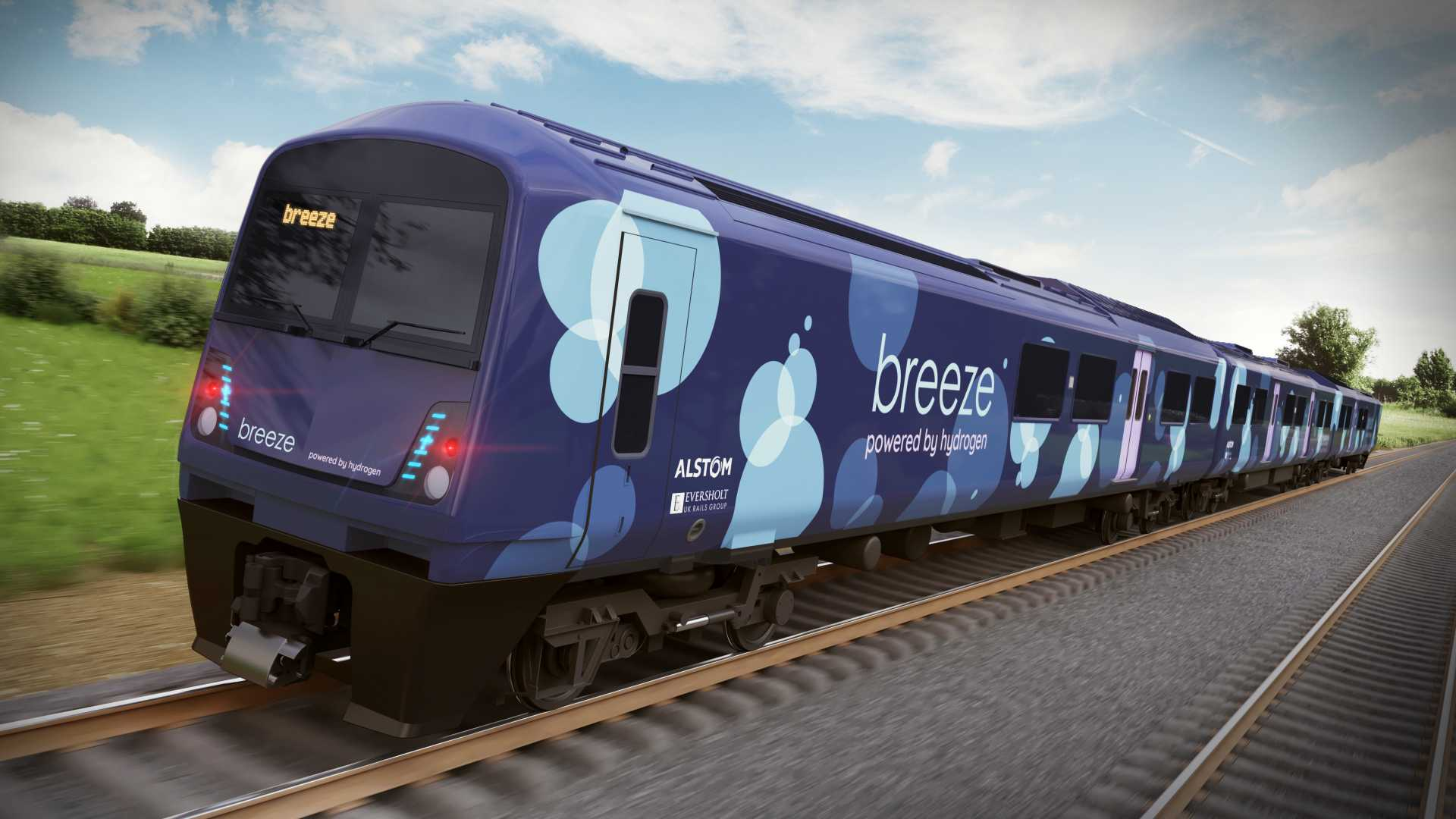 Hydrogen trains are greener, quieter and and cheaper to manage than conventional diesel trains. They also don't require expensive install expensive electrification infrastructure - image courtesy of Alstom.