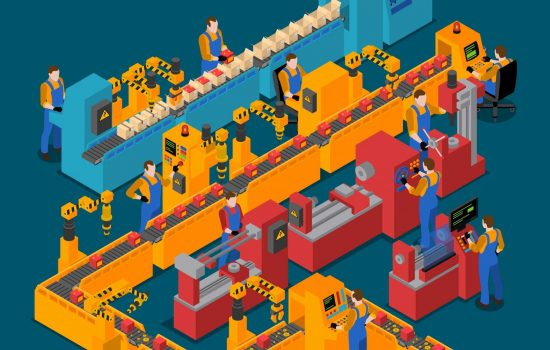 Factory Isometric Composition - image courtesy of Depositphotos.