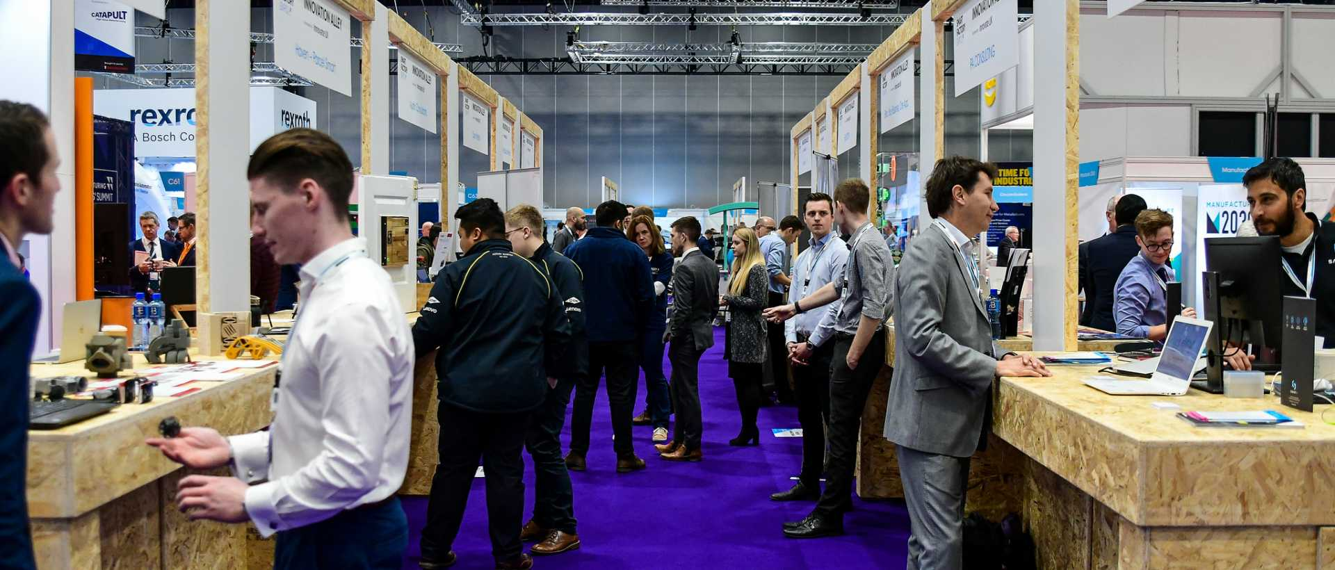 Innovation Alley at Smart Factory Expo 2018 - image courtesy of The Manufacturer.