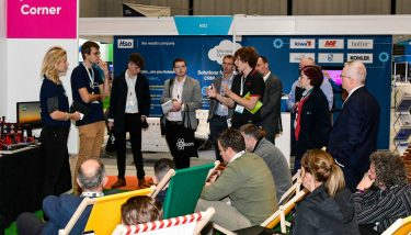 Speakers' Corner at Smart Factory Expo 2018 - image courtesy of The Manufacturer.