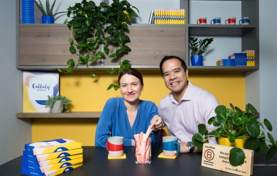 (L) Ewa Radziwon, product development lead, and (R) Thang Vo-Ta, co-founder & CEO – image courtesy of Callaly.