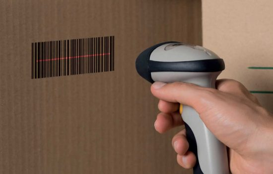 The history of barcodes: A lesson in digitalistion - barcode scanner - stock image