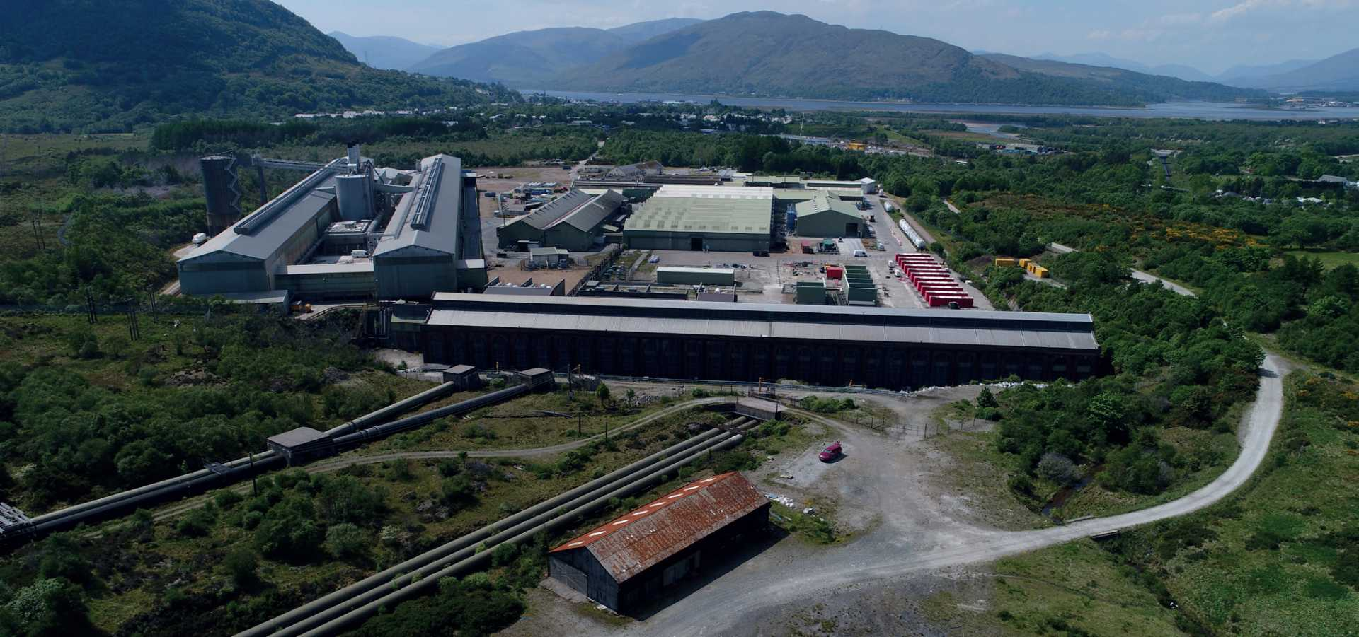 FULL WIDTH CROP - Lochaber aluminium smelting plant, site of a planned alloy wheel plant – it will enable UK automotive companies to buy wheels from a UK manufacturer.