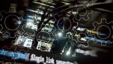 IoT - IIoT - Digitalisation - Digital Transformation - Gears mechanism, digital transformation, data integration and digital technology concept – image courtesy of Depositphotos.