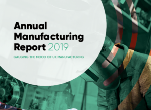 The cover of the 2019 Annual Manufacturing Report from The Manufacturer