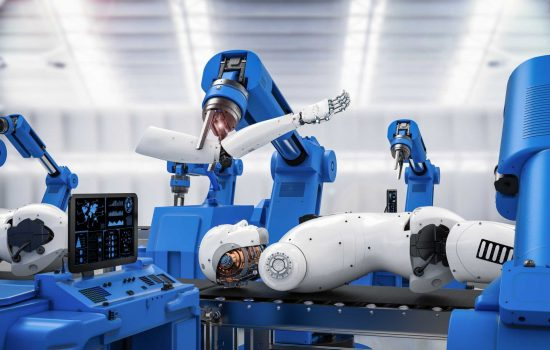 Robot assembly line - Industrial Automation - image courtesy of Depositphotos.
