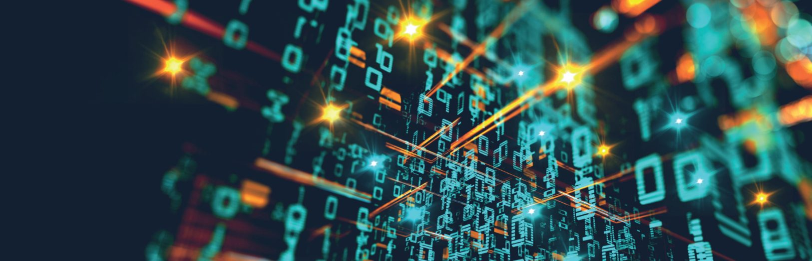 Digital Transformation Industry 4.0, the Fourth Industrial Revolution, Smart Manufacturing Data Analytics Digital Transformation Connected value chains - stock image