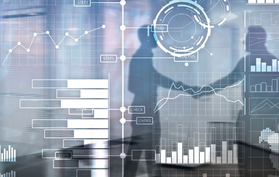 Data Digital Transformation IoT Analytics Customer Experience Technologies Technology - Stock Image