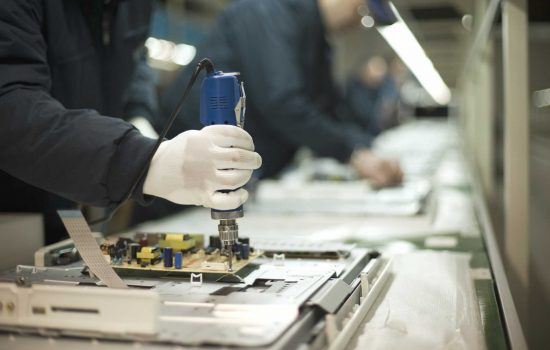 Skills Gap - Production Line Stock UK Electronics Sector - image courtesy of Depositphotos