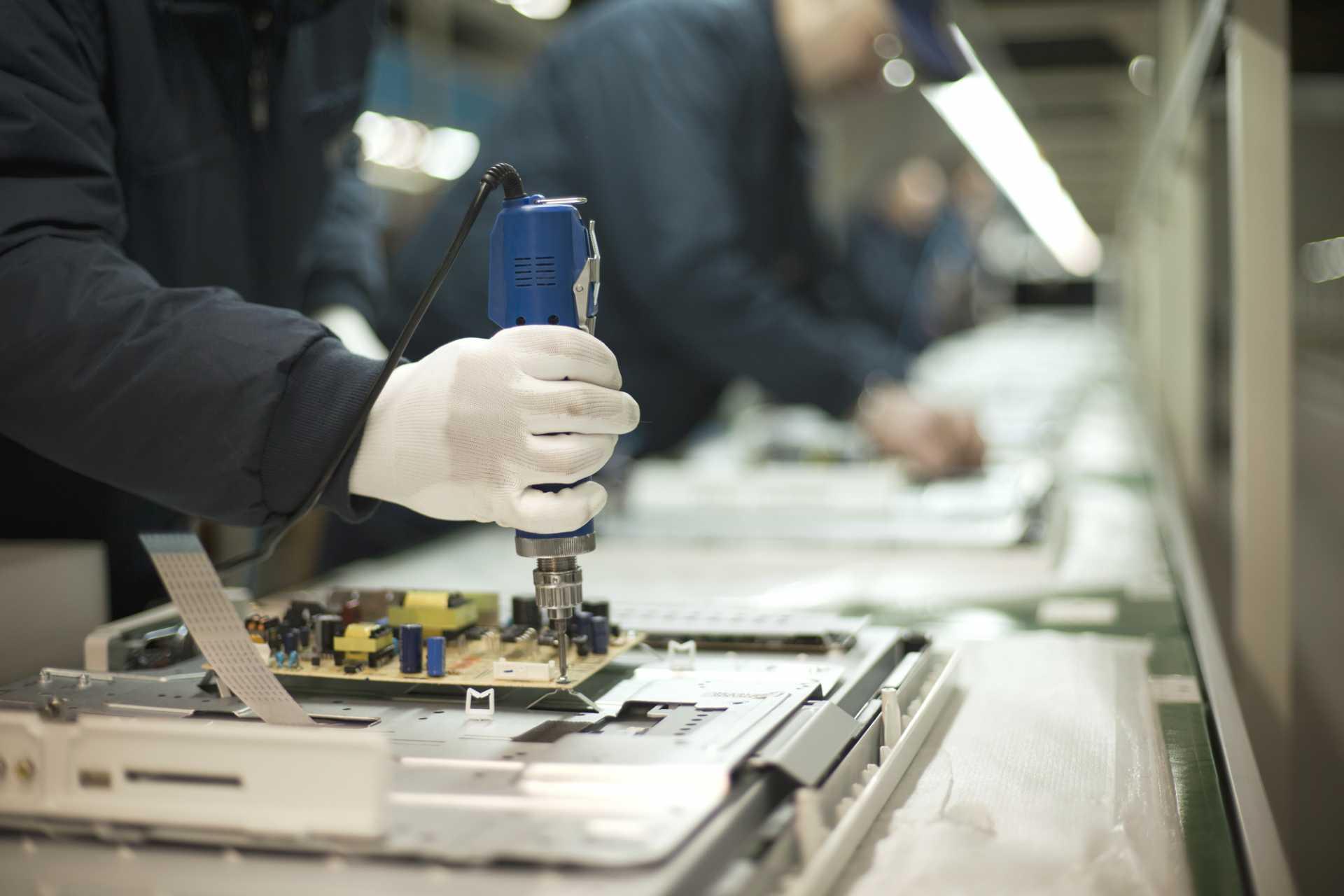 Skills Gap - Production Line Stock UK Electronics Sector - image courtesy of Depositphotos