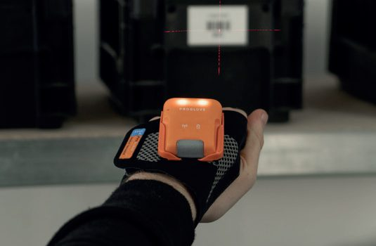 New Technologies - ProGlove's MARK barcode scanner has been designed to work naturally and intuitively with the operator – image courtesy of ProGlove.