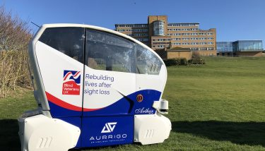 Today Coventry-based Aurrigo carried out a trial to test transport methods for disabled people - image courtesy of Aurrigo.