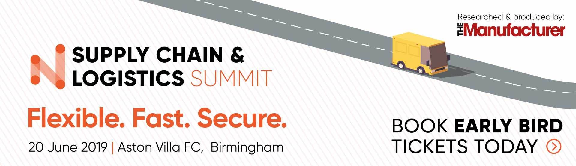 Supply Chain & Logistics Summit 2019 - Early Bird Banner