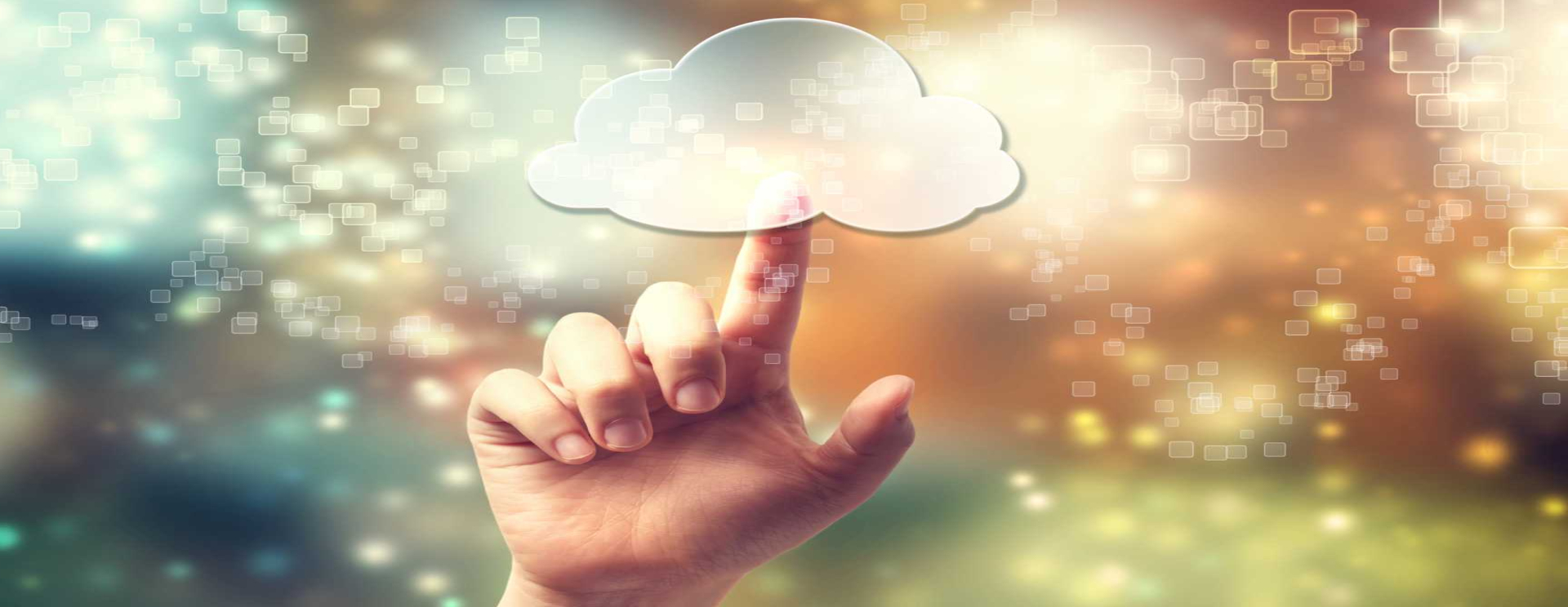 CROP - Cloud computing - Edge - symbol being pressed by hand - image courtesy of Depositphotos.
