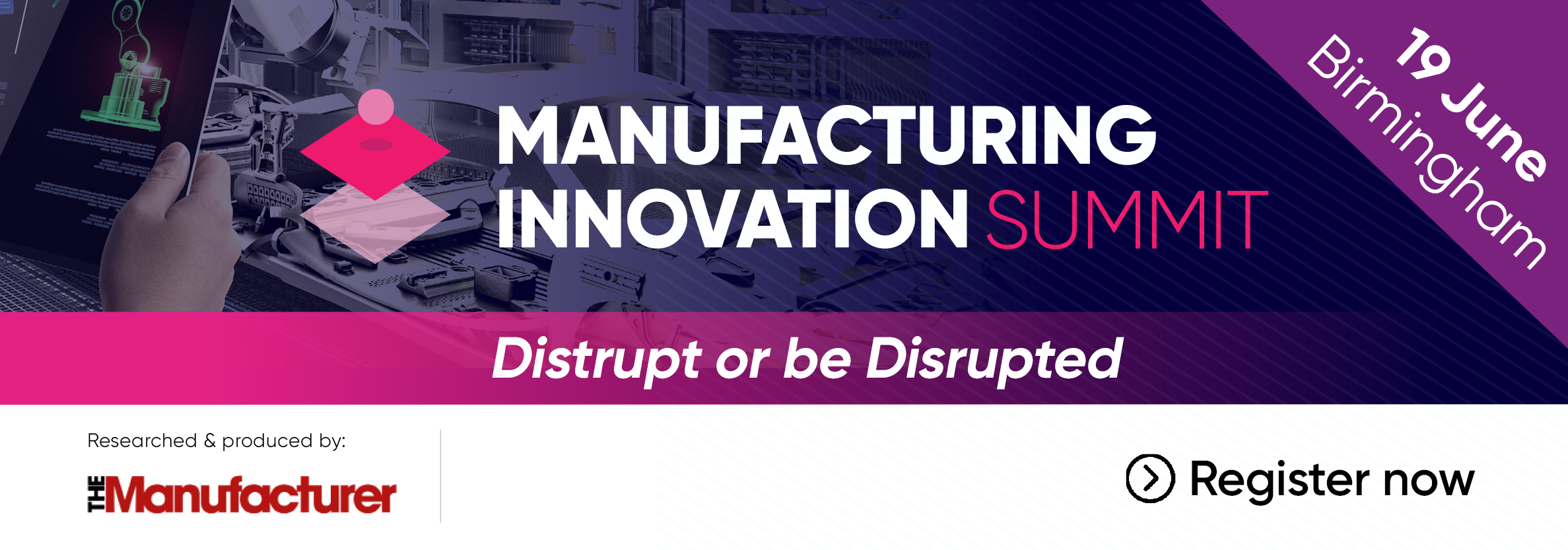 Manufacturing Innovation Summit 2019 - Banner