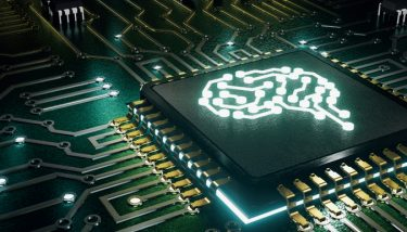 Digital Transformation AI Artificial Intelligence Microchip Machine Learning - Stock Image