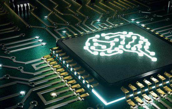 Quantum Computing Digital Transformation AI Artificial Intelligence Microchip Machine Learning - Stock Image