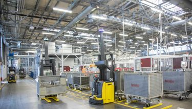 Automated Guided Vehicles -Travelling at one metre per second, the AGVs are expected to cover 67,000km a year – the equivalent of travelling around the earth 1.5 times - image courtesy of Brose.