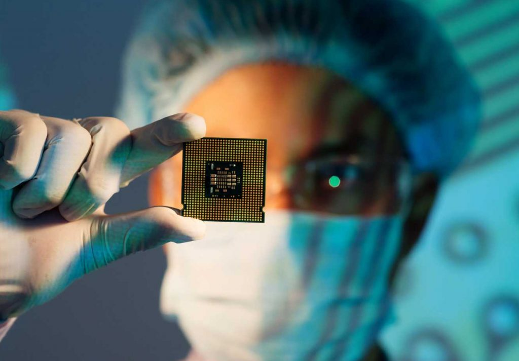 CROP - Compound Semiconductors - The UK leads the world in Compound Semiconductor technology - stock image