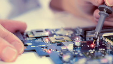 cutting-edge science to industry, technology engineering electronics - stock image