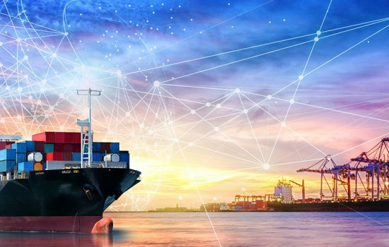 CROP digital supply chains Transforming Maritime Supply Chains - Stock Image