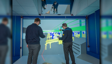 The Virtual CAVE at Congleton - designing factory cells in VR