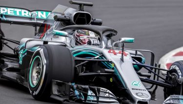 MARCH 1, 2018: Lewis Hamilton during Formula One Test Days at Circuit of Barcelona Catalunya - image courtesy of Depositphotos