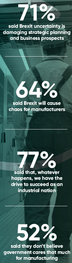 Annual Manufacturing Report 2019 - Government Policy and Industrial Strategy - UK manufacturers attitudes