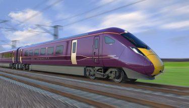 Artist's impression of the new train for East Midland Railway - image courtesy of Hitachi Rail.