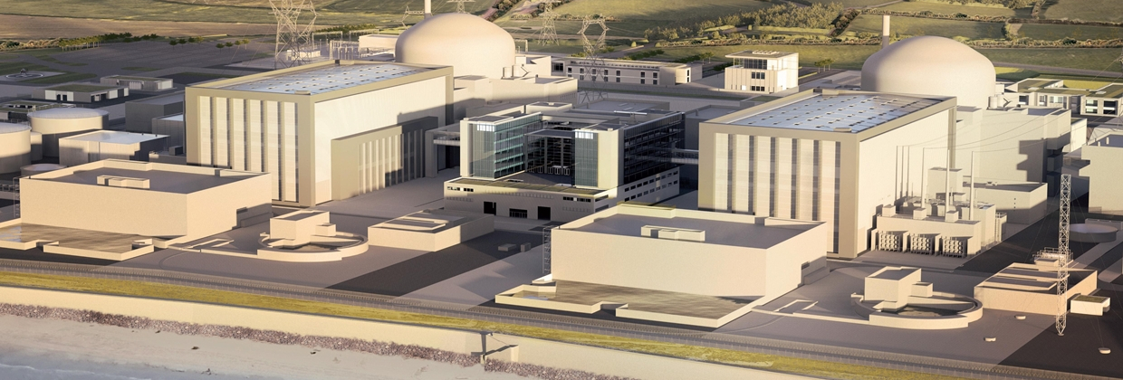 CROP - CGI impression of Hinkley Point C - image courtesy of EDF Energy.