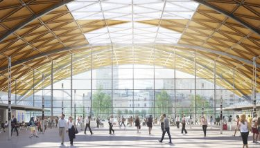 An artist's impression of the proposed interior of the new Curzon Street Station in Birmingham