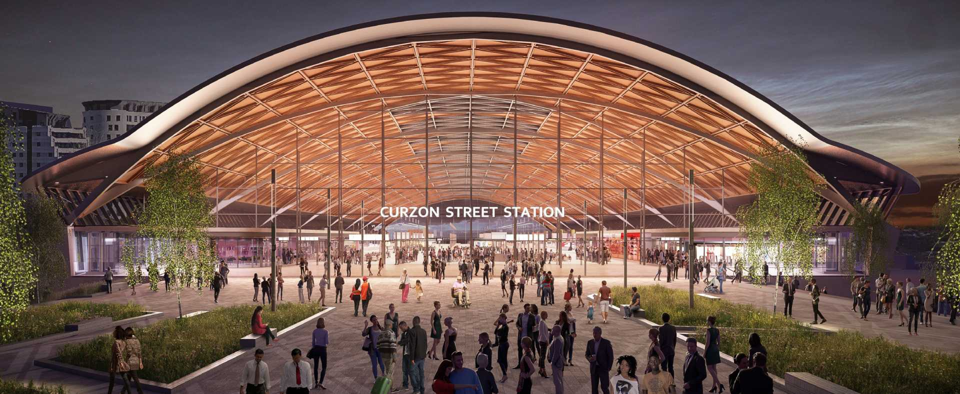The Curzon Street Masterplan covers the area that will house the HS2 Curzon Street station in Birmingham city centre
