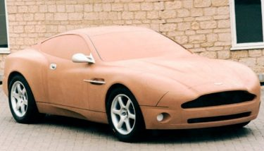 A clay model Jaguar