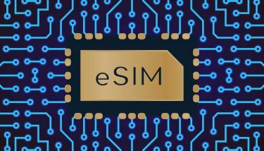 Vector embedded sim eSIM card concept - image courtesy of Depositphotos.
