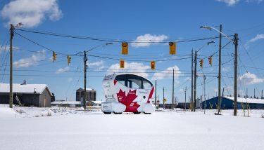 Driverless Technology - Pod Zero operating in Ottawa - image courtesy of Aurrigo.