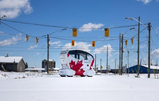 Pod Zero operating in Ottawa - image courtesy of Aurrigo.