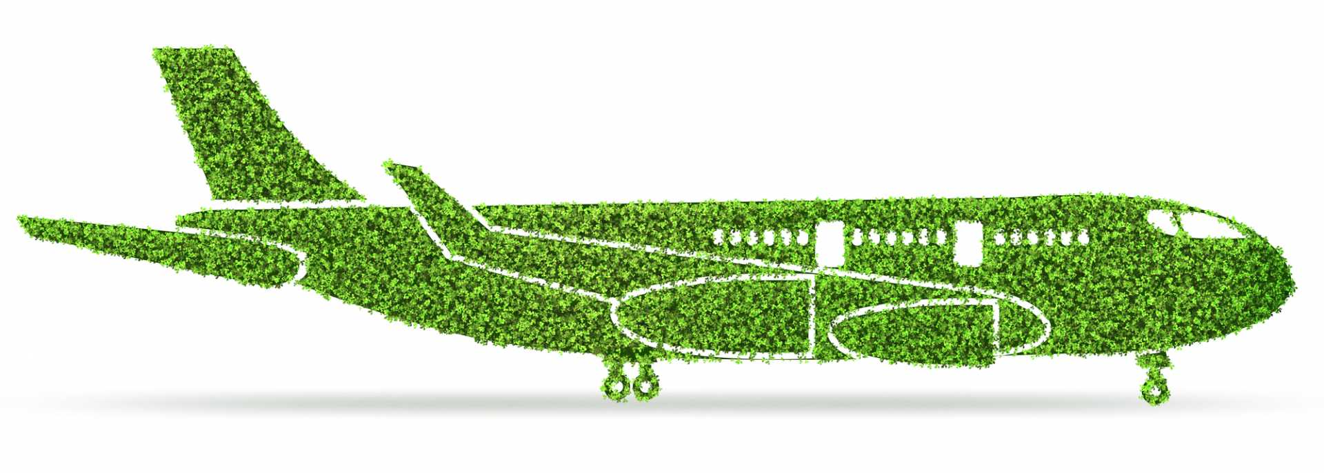 Electric Planes - Green environmentally friendly vehicle concept - 3d rendering - image courtesy of Depositphotos.