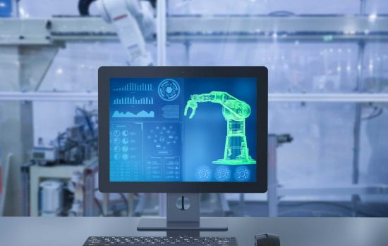 3d rendering computer display automation robot system in factory - image courtesy of Depositphotos.