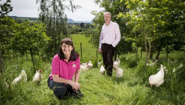 David and Helen Brass of Bell Mount Farming - image courtesy of Made Smarter.
