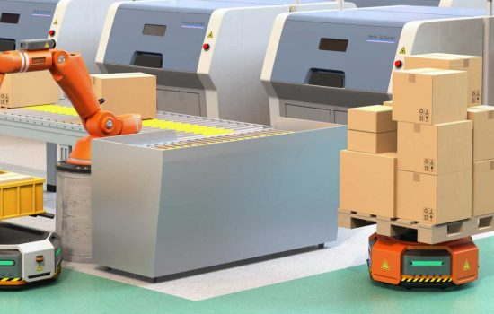 CROP - any warehouse vehicle can become an automated guided vehicle (AGV) by installing a robotic module - image courtesy of Depositphotos.